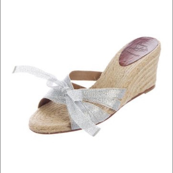 new style a6954 d9a7e Authentic Christian Louboutin Espadrilles Wedges